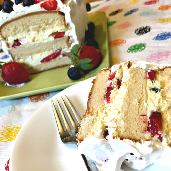 No Bake Mixed Berry Easy Pound Cake Recipe