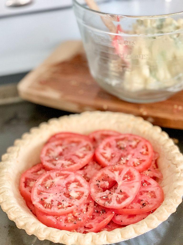 Tomato Pie sliced