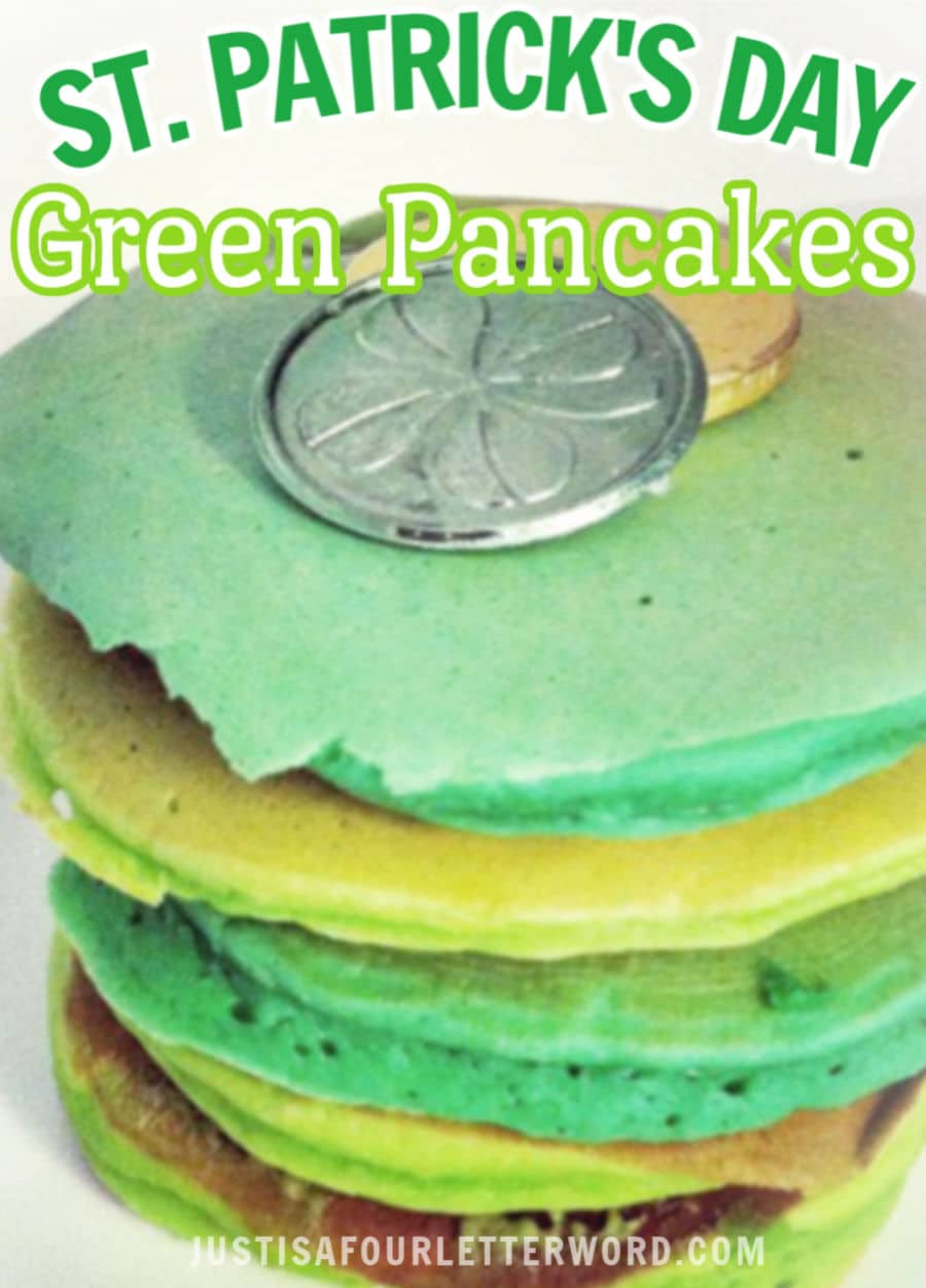 Green Pancakes for St. Patricks Day