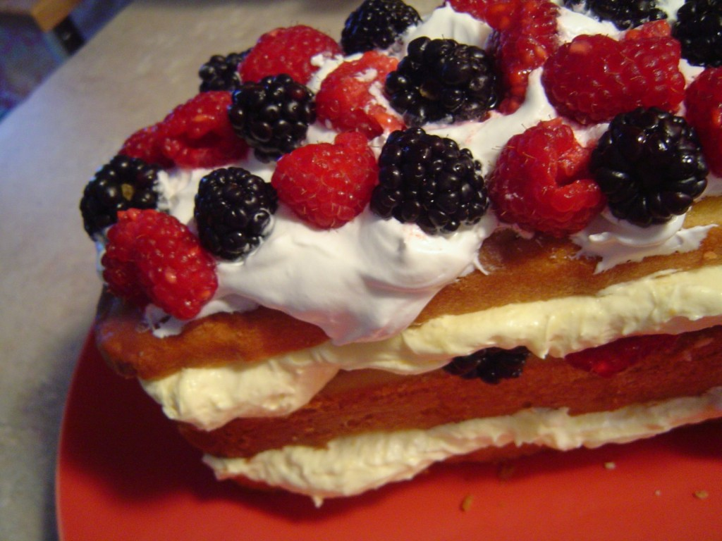 Pound Cake With Pudding And Berries