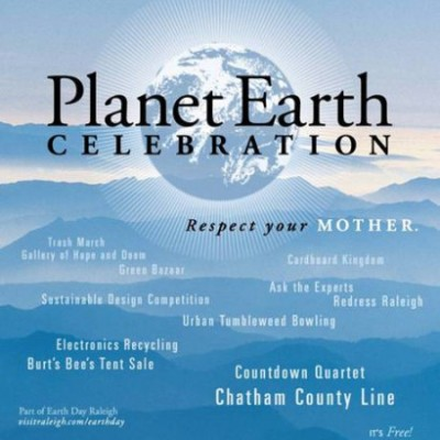 Planet Earth Celebration in Raleigh April 16th