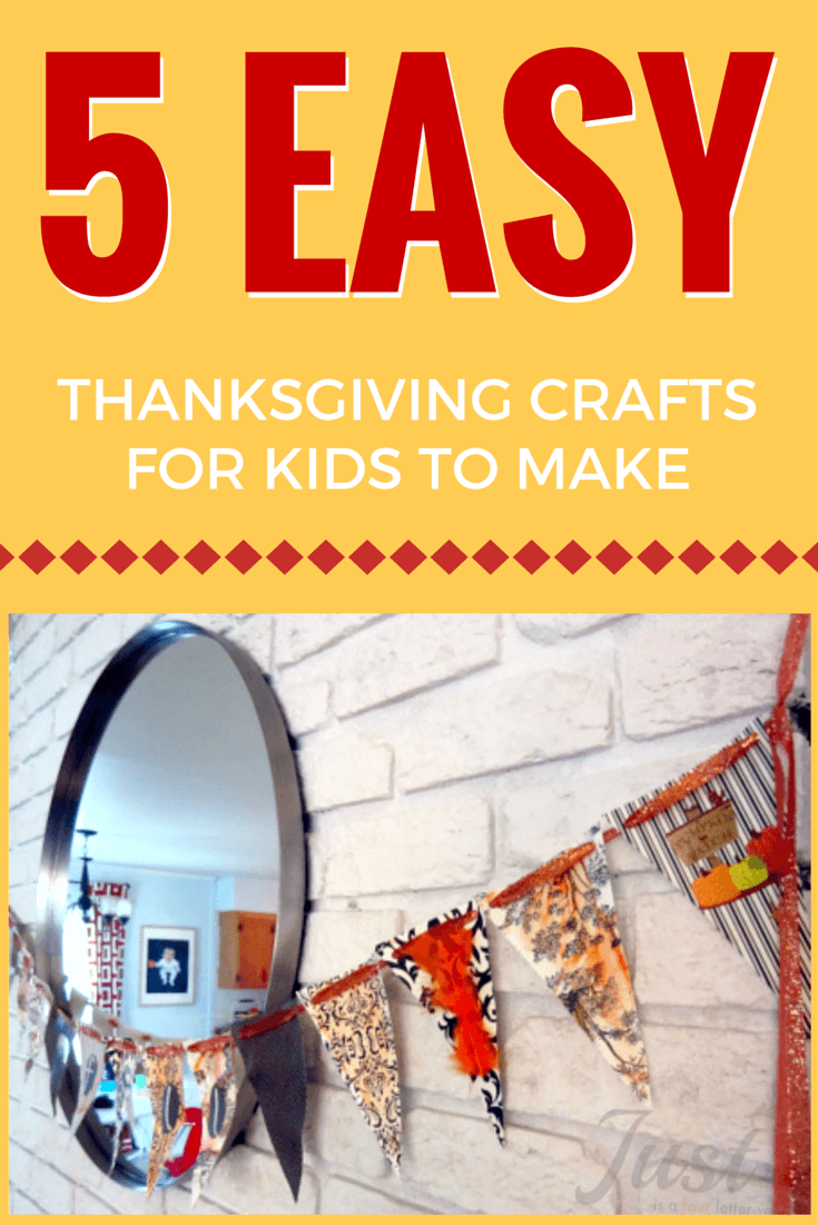 5 fun ideas for DIY Thanksgiving crafts kids can make at home or in the classroom. Really easy, cute and fun!