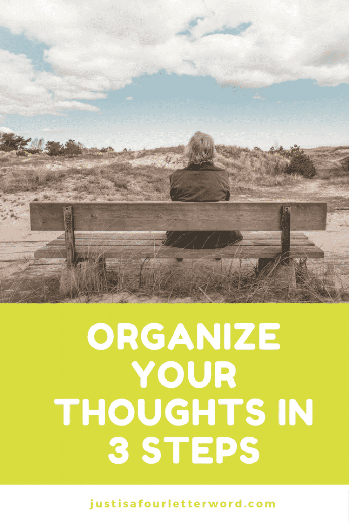 Organize your thoughts in 3 steps and get your week started right. Tips for work life balance and mom life.