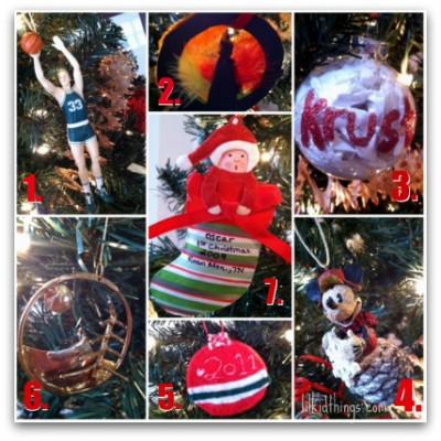 Ornaments on our tree