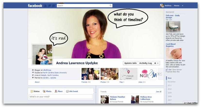 Andrea Updyke, Facebook Timeline, Timeline rollout