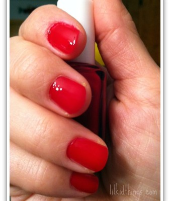 Dare to try: red nail polish