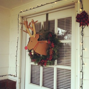 Reindeer wreath, cardboard, andrea Updyke, lilkidthings, christmas decorations
