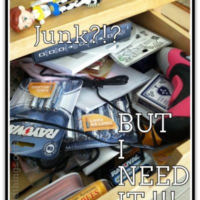 Junk in the trunk…er…drawer {#vlogmom}