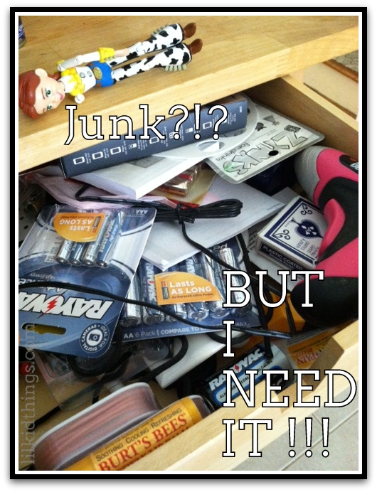 Post image for Junk in the trunk…er…drawer {#vlogmom}