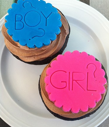gender cupcakes
