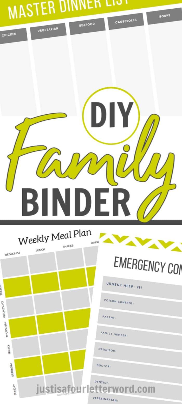 diy family binder