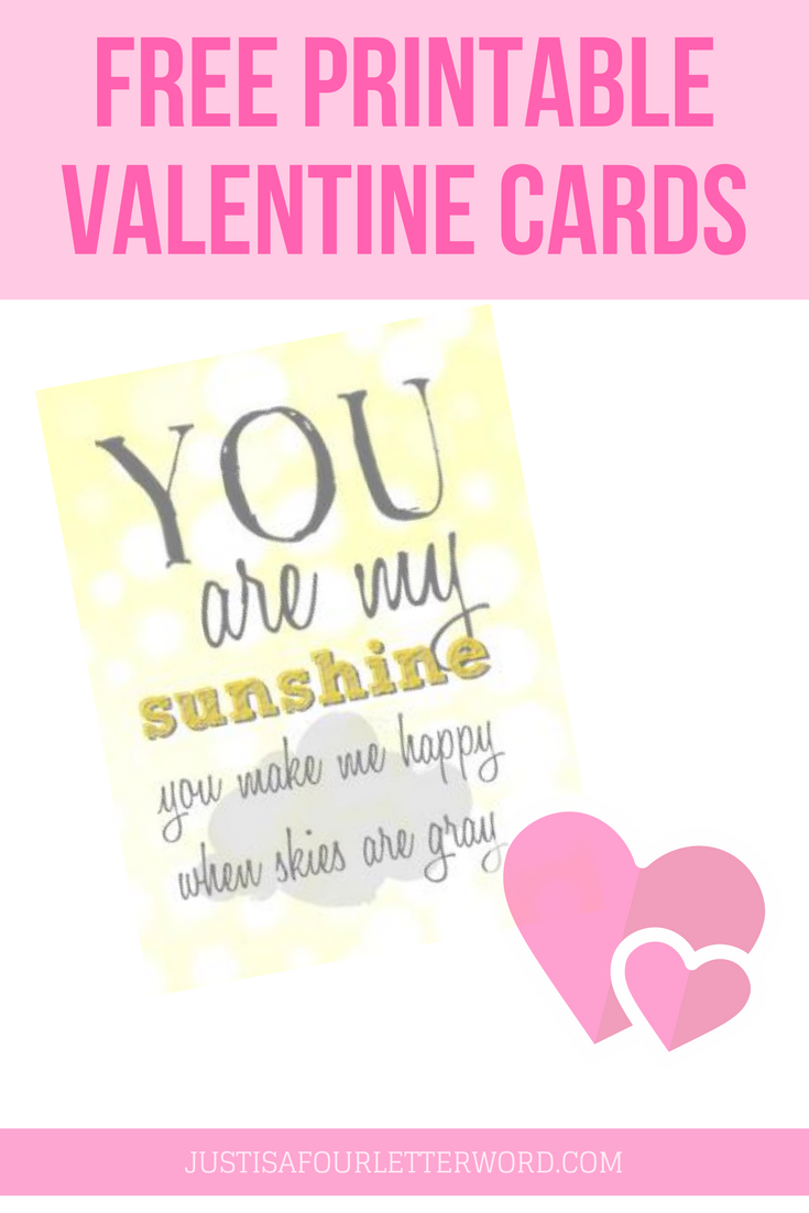 Check out these free printable valentine cards! I created two sizes so take your pic. And check out my teacher valentine while you're here. It's free too!