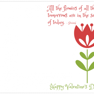 Easy Teacher Valentines – Free Printable Card