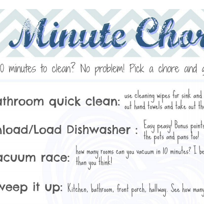 Easy 10 Minute Chores {free printable}