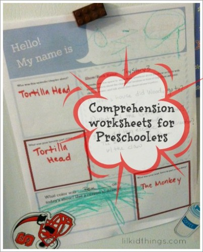 comprehension worksheets