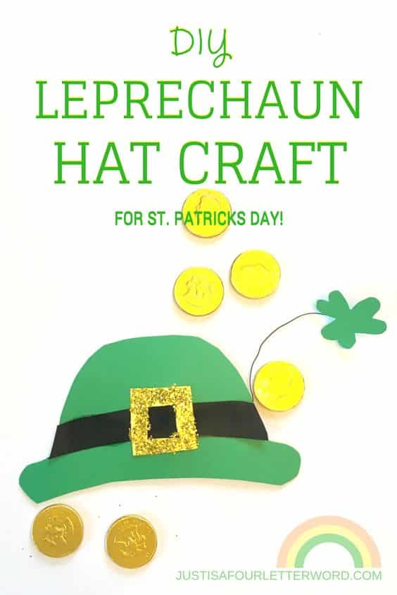 Make this DIY Leprechaun Hat Craft with your kids or class! Great for St. Patrick's Day crafts for kids or any lucky celebration!