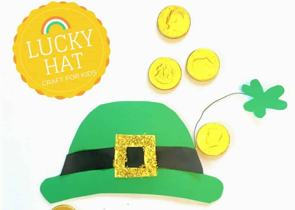 e82e66f3734 St. Patrick s Day crafts for kids - FREE Printable Leprechaun Hat Pattern