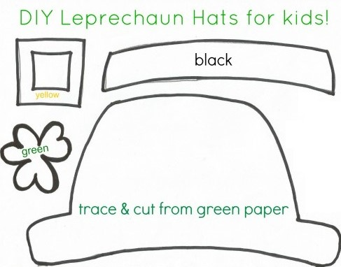 St patrick 39 s day crafts for kids free printable for Leprechaun hat coloring page