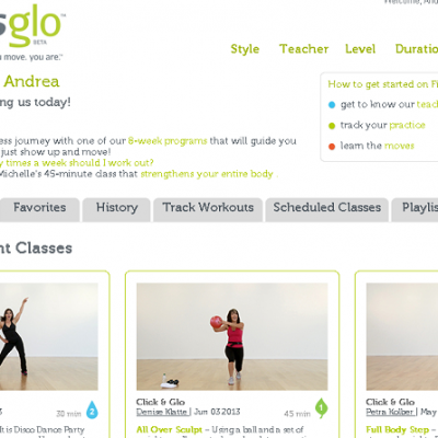 Workout anytime with Fitnessglo.com {giveaway}
