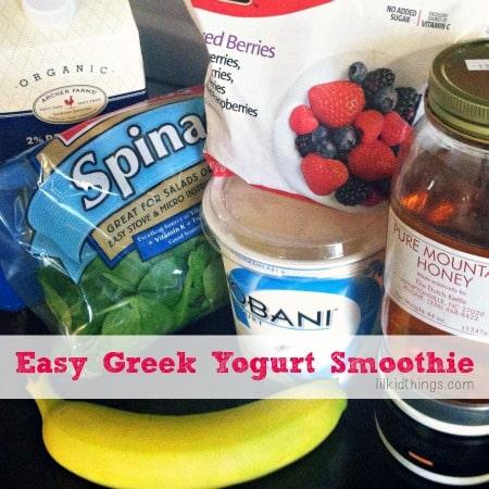 Easy greek yogurt smoothie recipe