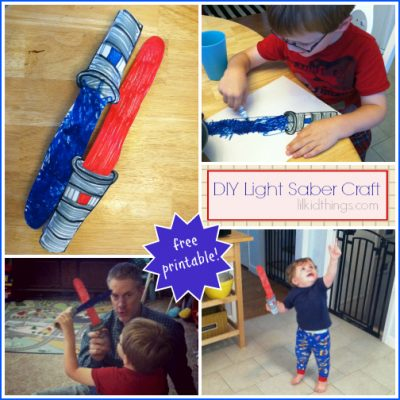 Make your own light saber! {free printable}