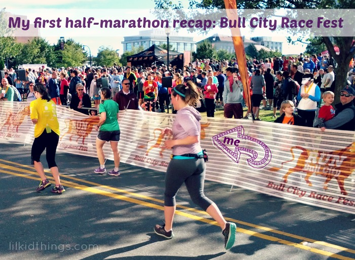 half marathon, bull city race fest, race recap, running, andrea updyke, lilkidthings