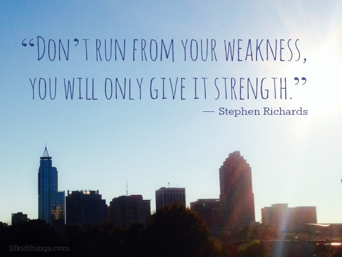 strength quote, strength in weakness, inspirational quote, andrea updyke, lilkidthings