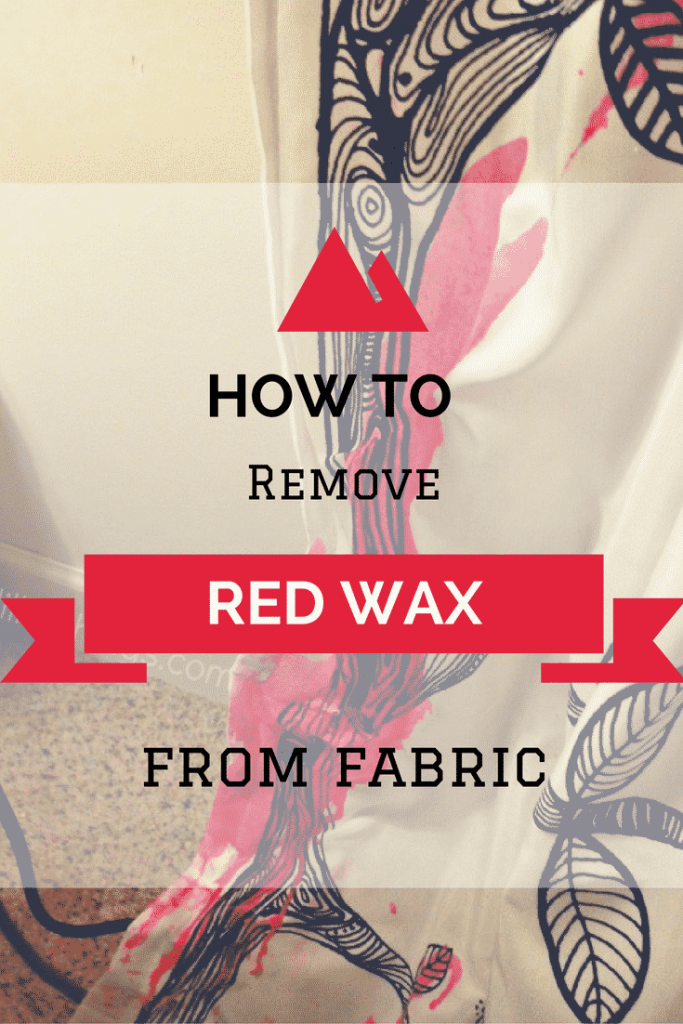 How to remove red wax from carpet and fabric. It's easier than you think!