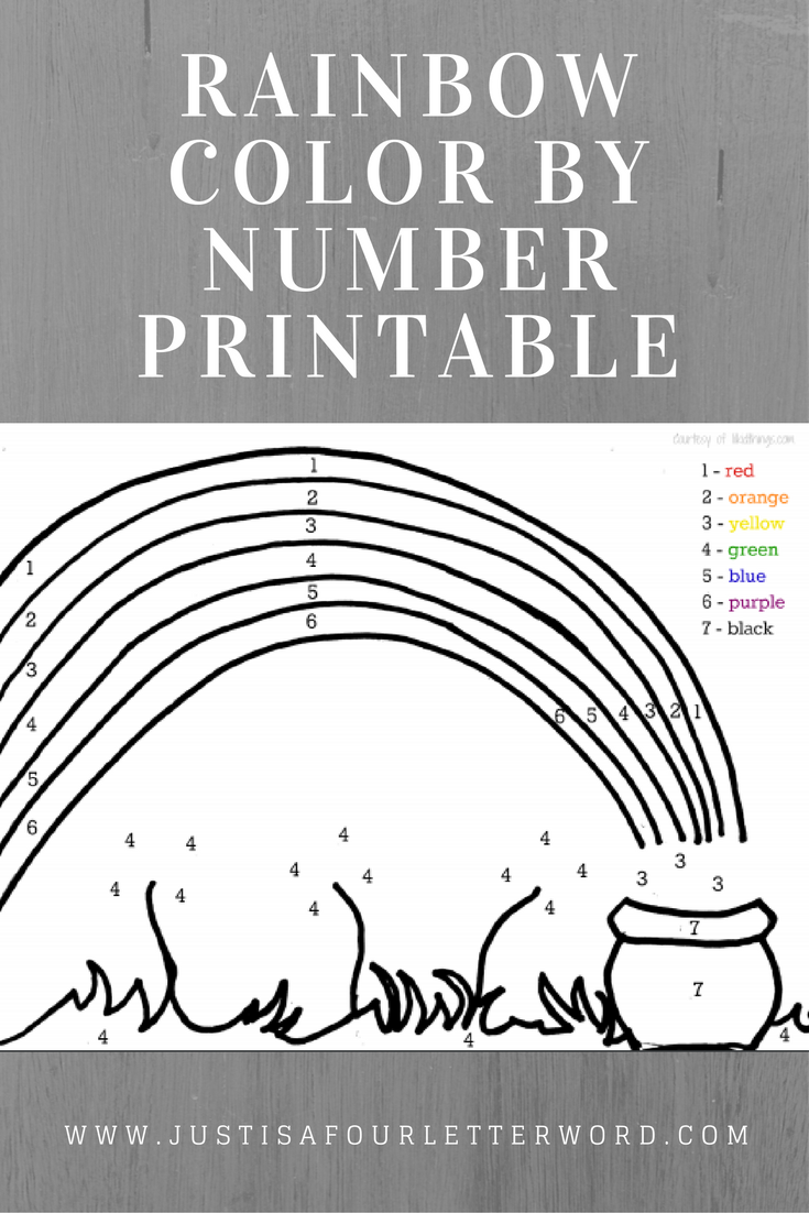 Free Rainbow color by number printable for St. Patrick's Day crafting fun!