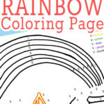 Rainbow coloring page printable