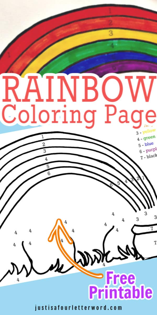 Rainbow coloring page printable