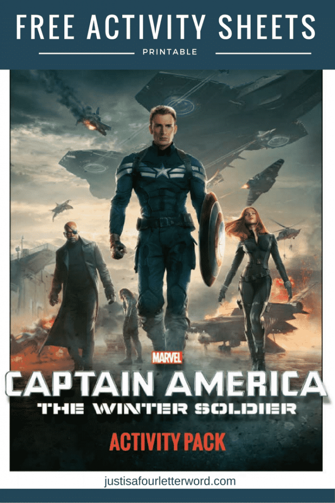Free Captain America printable activity sheets