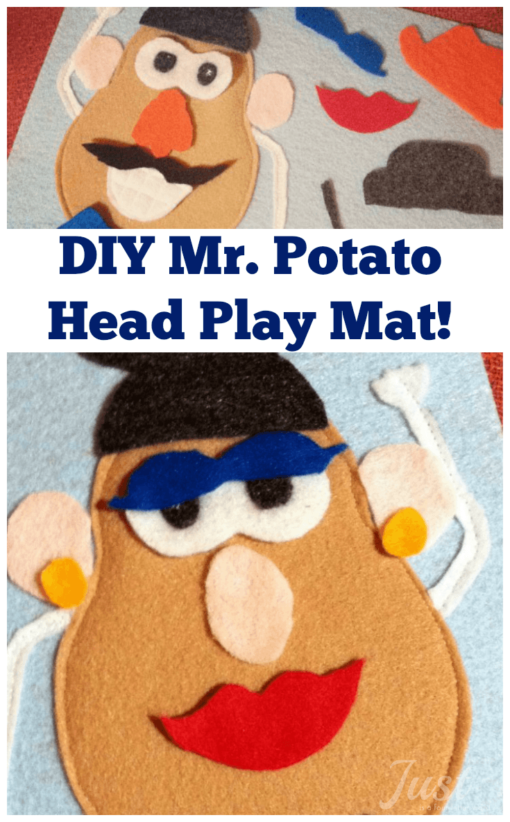 photo relating to Mr Potato Head Printable Parts identified as Do it yourself Mr. Potato Thoughts Engage in Mat for Serene Guides and Drive with