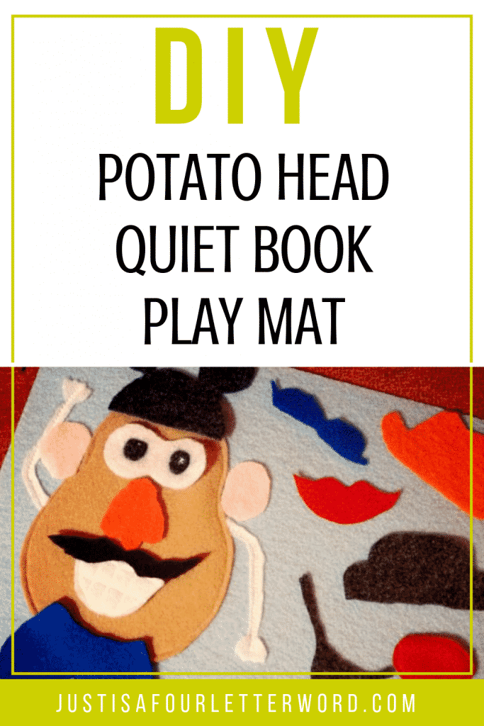 graphic relating to Mr Potato Head Printable Parts called Do-it-yourself Mr. Potato Brain Engage in Mat for Calm Textbooks and Push with
