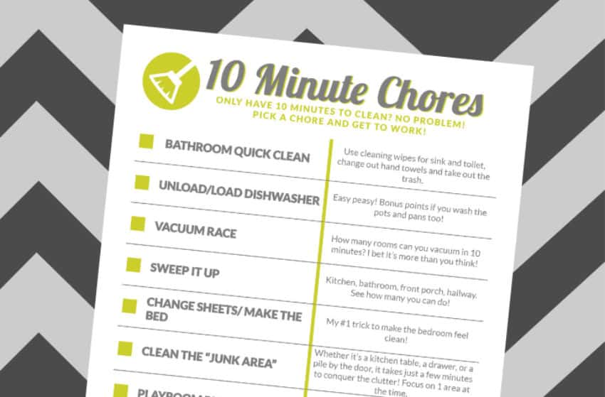 10 Minute Chore Chart