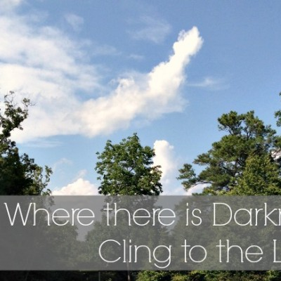 Where there is darkness, cling to the light