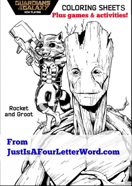 Grab your Guardians of the Galaxy free printable activity pack for kids!