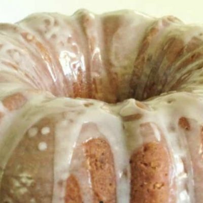 Pound cake that's almost too pretty to eat