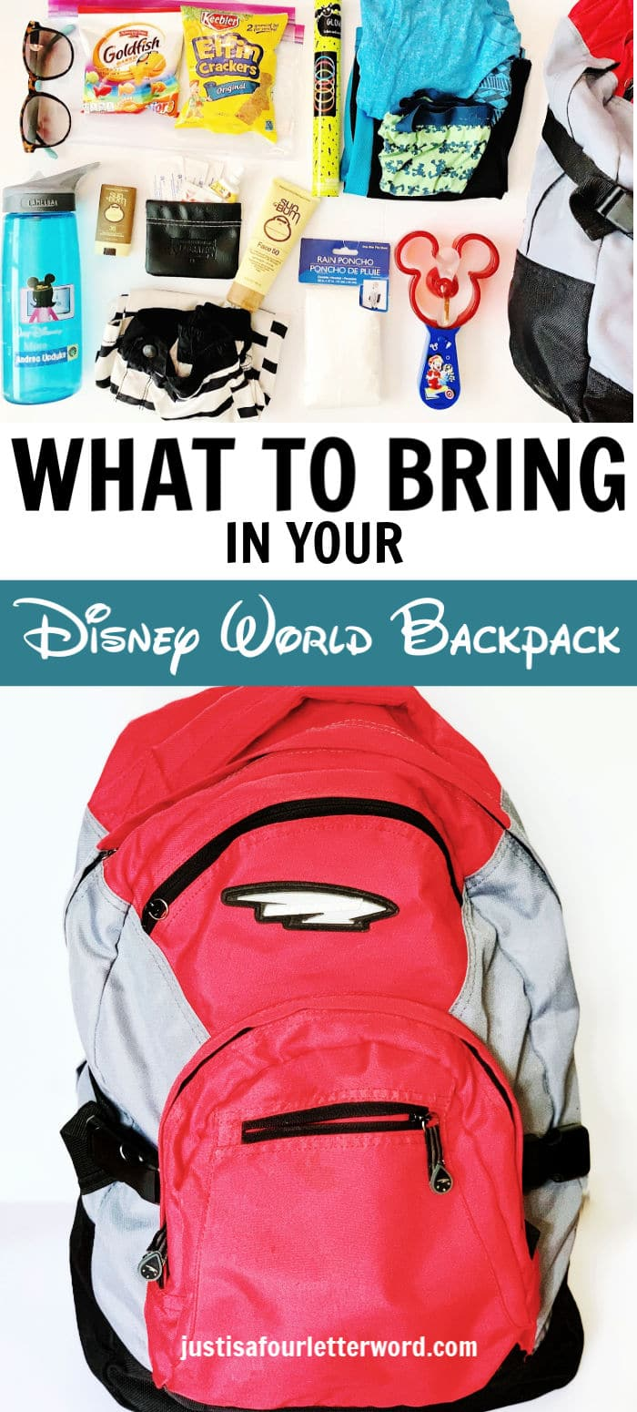 What to Bring in Your Disney World Backpack Pin Image