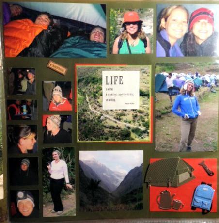 camping on the inca trail peru