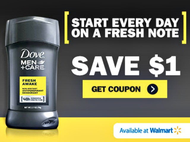 Save $1 on Dove Men +Care Deodorant at Walmart (coupon)
