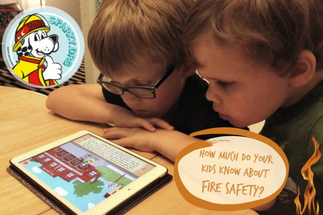 sparky fire safety app featured