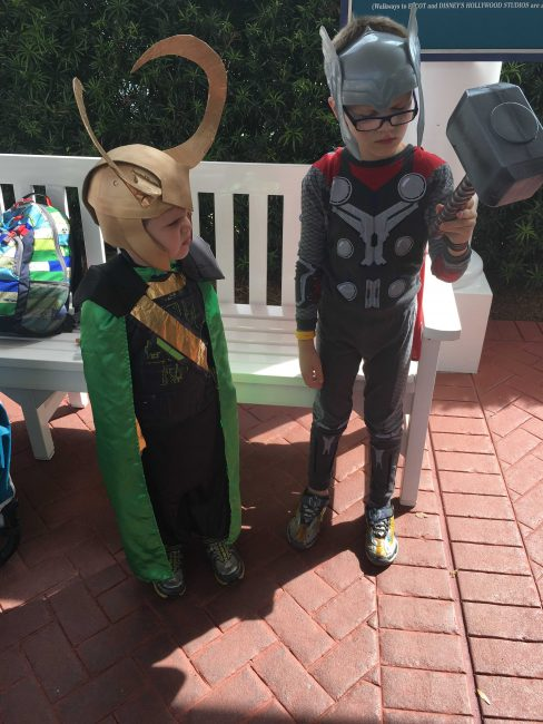 DIY kids loki costume