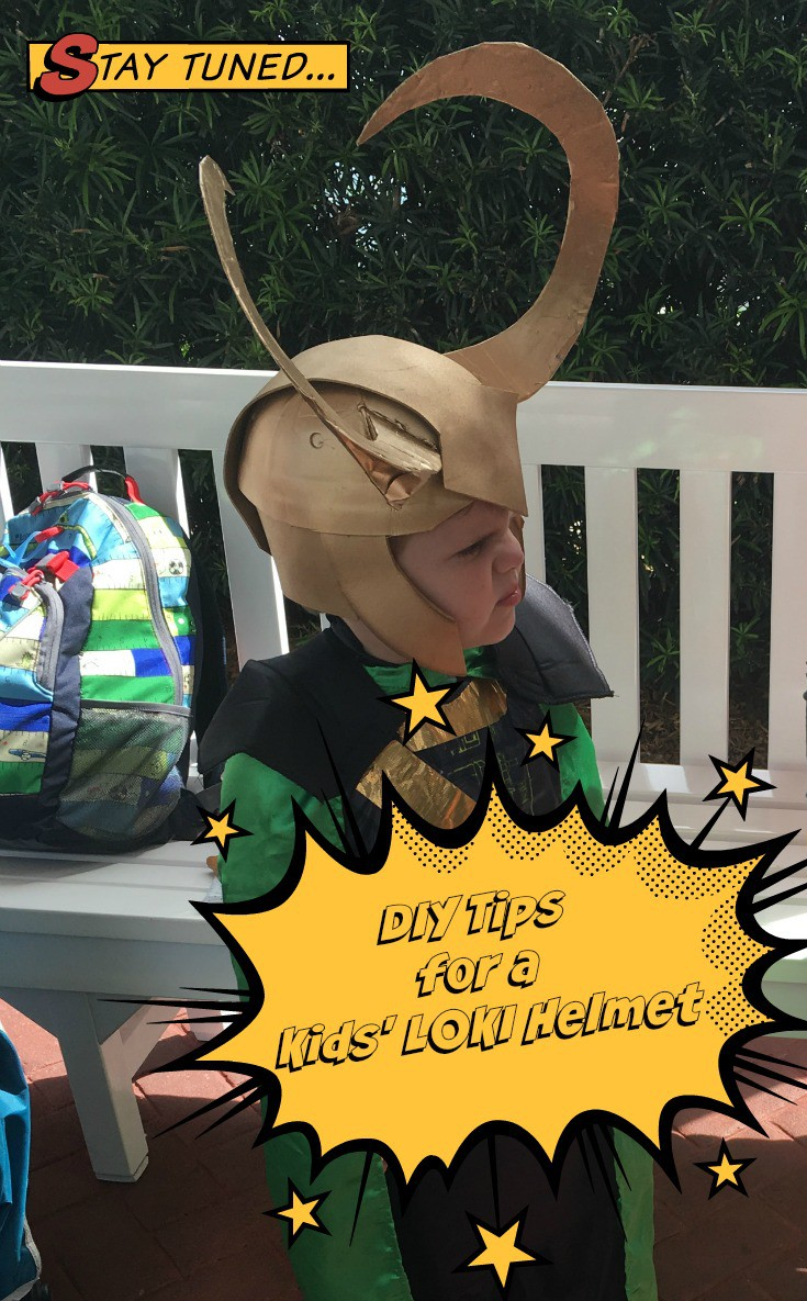 Tips to create your own kids' #Loki costume helmet! #DIY