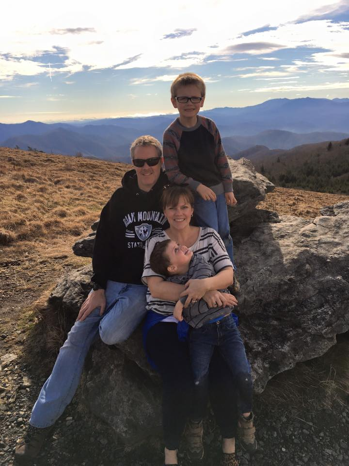 family at roan mountain
