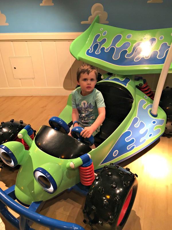 Calvin in RC car in Andy's Room Disney Dream