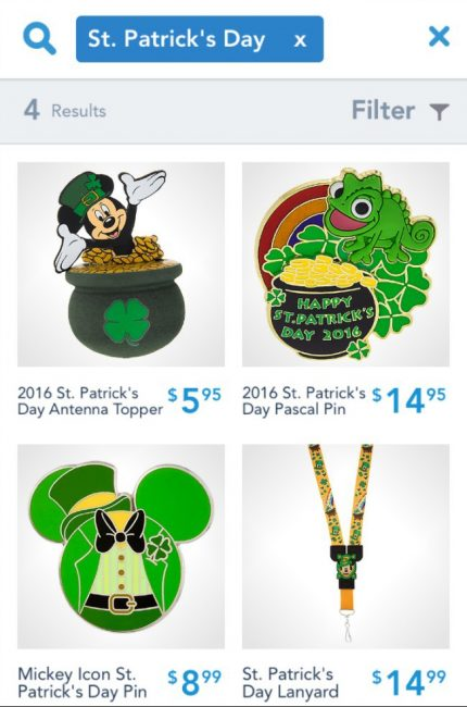 Disney St. Patrick's Day merchandise