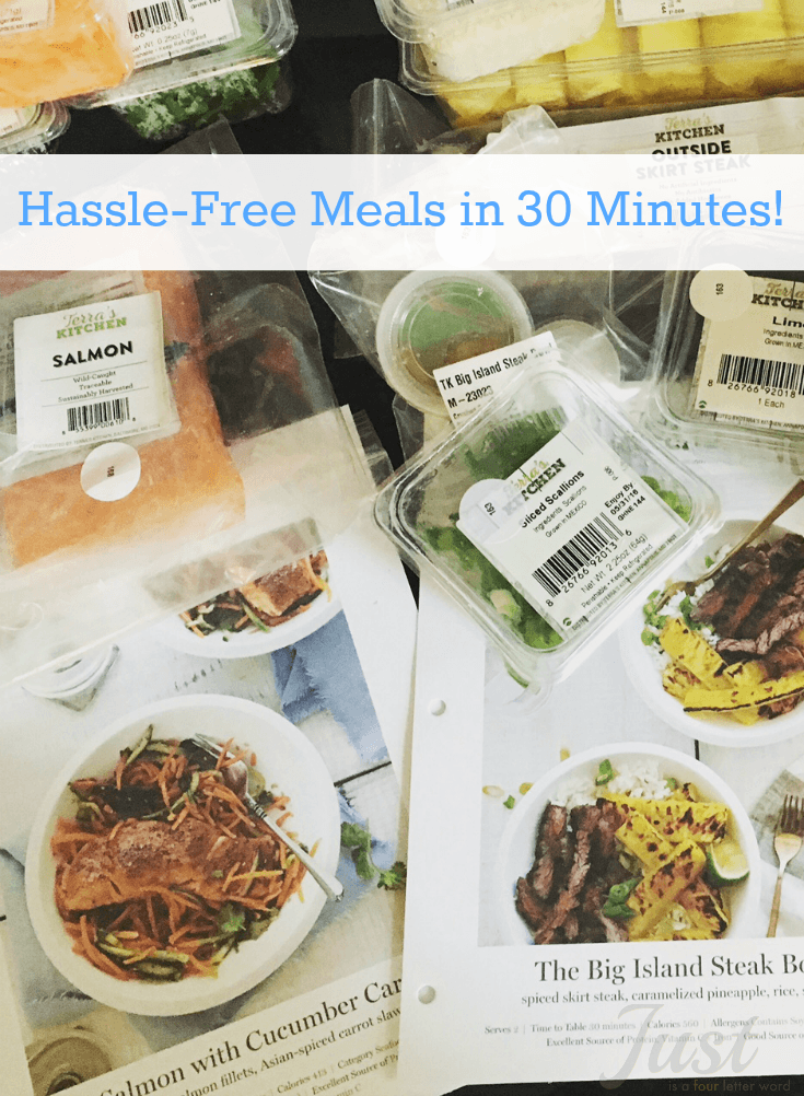 Hassle-Free Meals in 30 Minutes! Try these great meals from Terra's Kitchen. Fresh ingredients prepped and delivered right to your door!