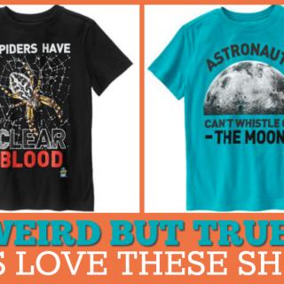Weird but true shirts for kids