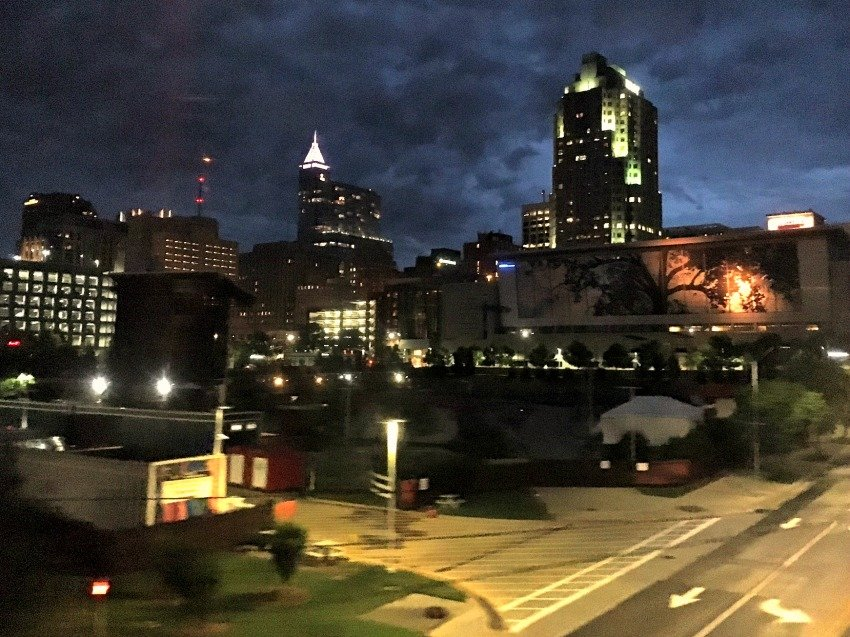 Raleigh Skyline from Train